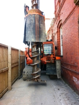 CZM EM400 CFA piling rig Manchester