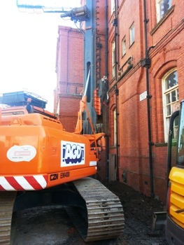 CZM EM400 compact CFA piling rig Manchester