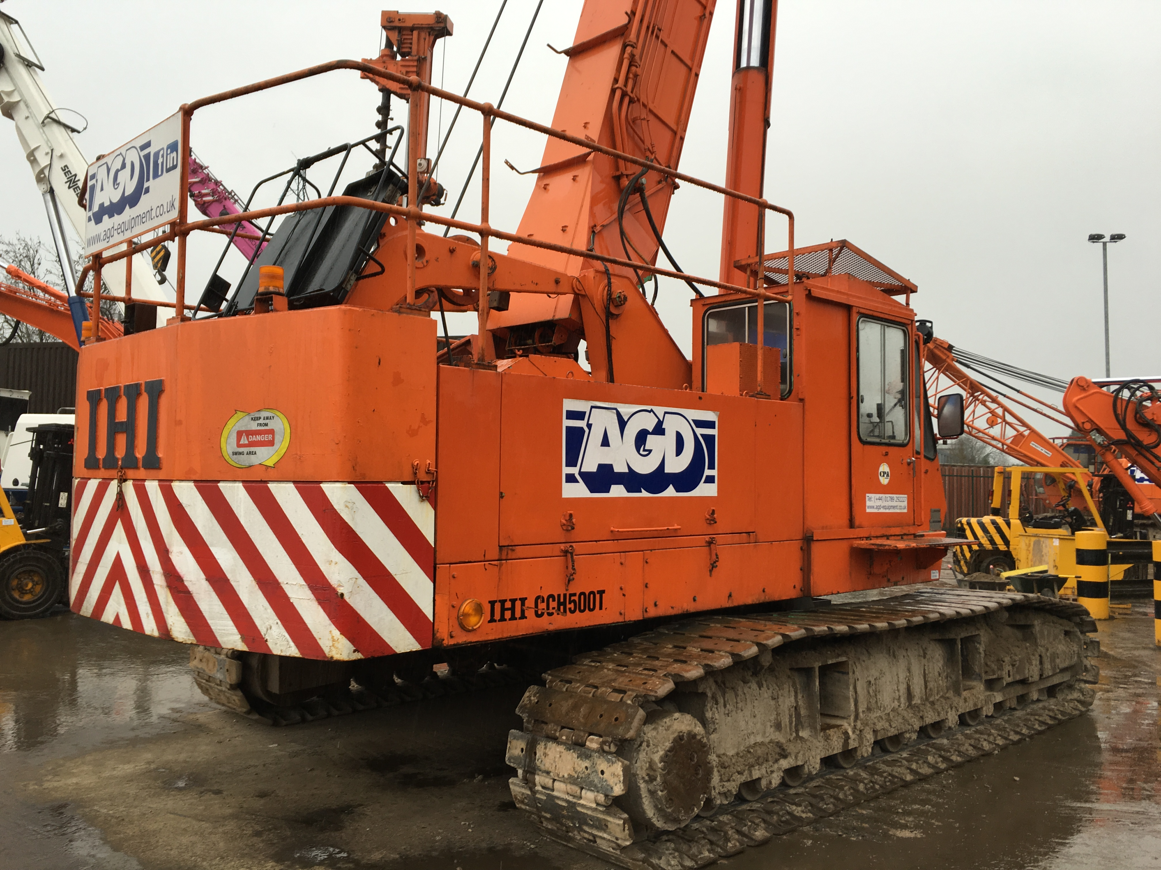 Used telescopic crawler cranes for sale