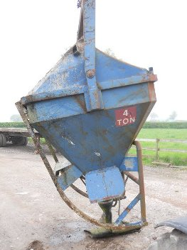 Used crane concrete skips for sale or hire