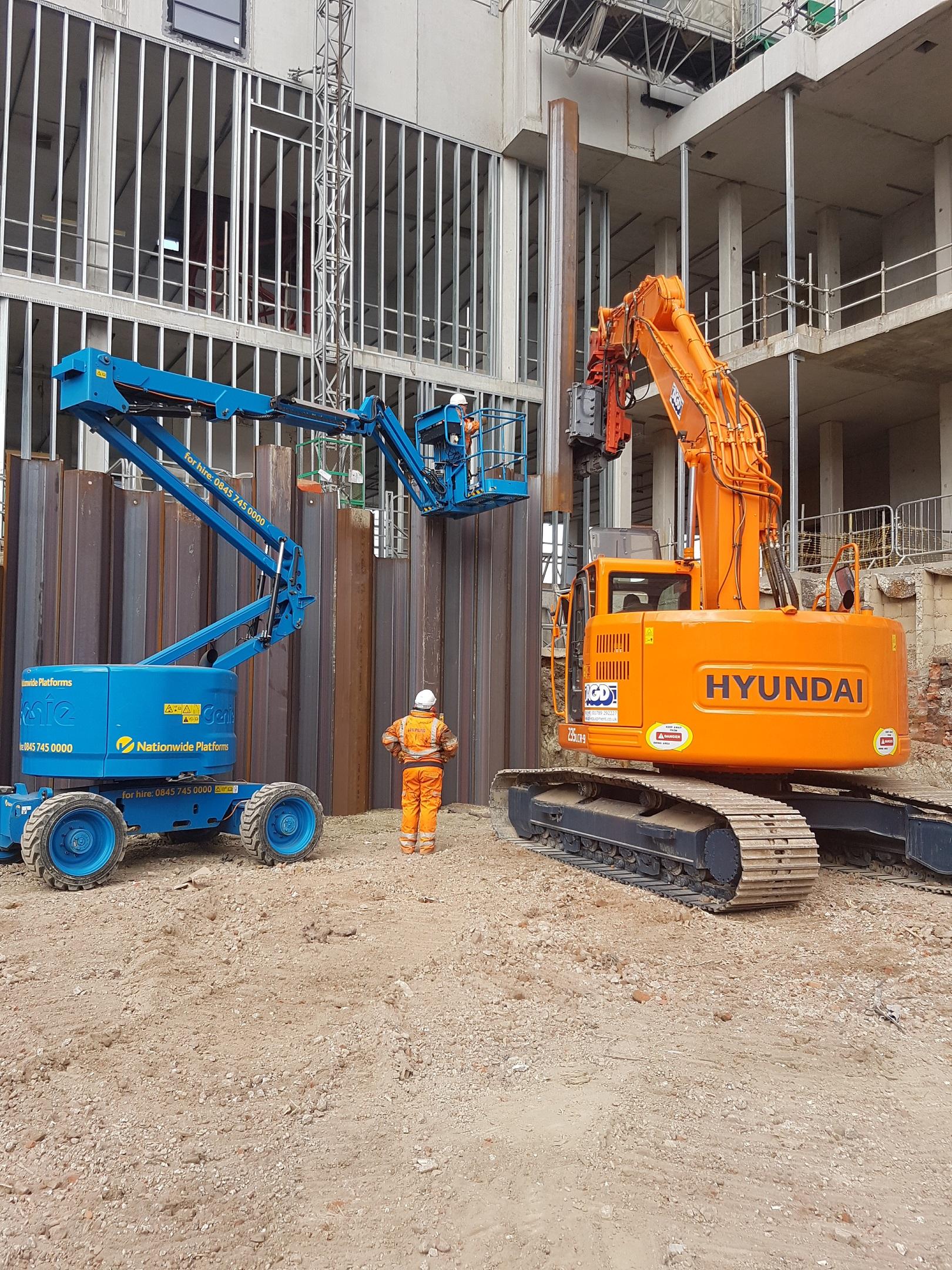 Pile driver hire, sheet piles, precast piles, tubular piles, railway piling, air hammers