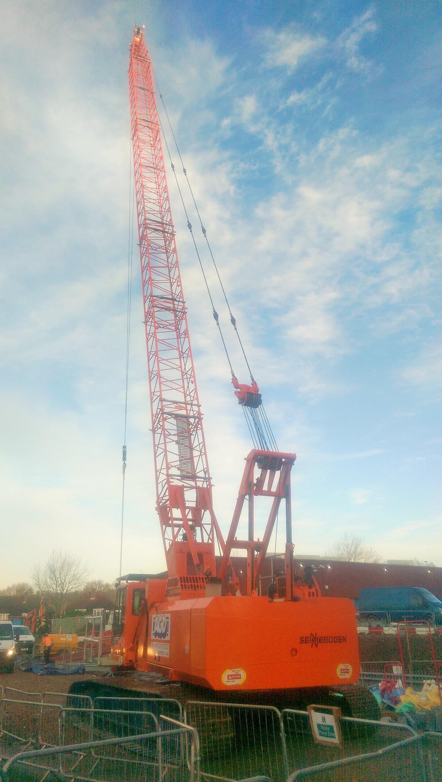 Sennebogen 650HD crawler crane on hire