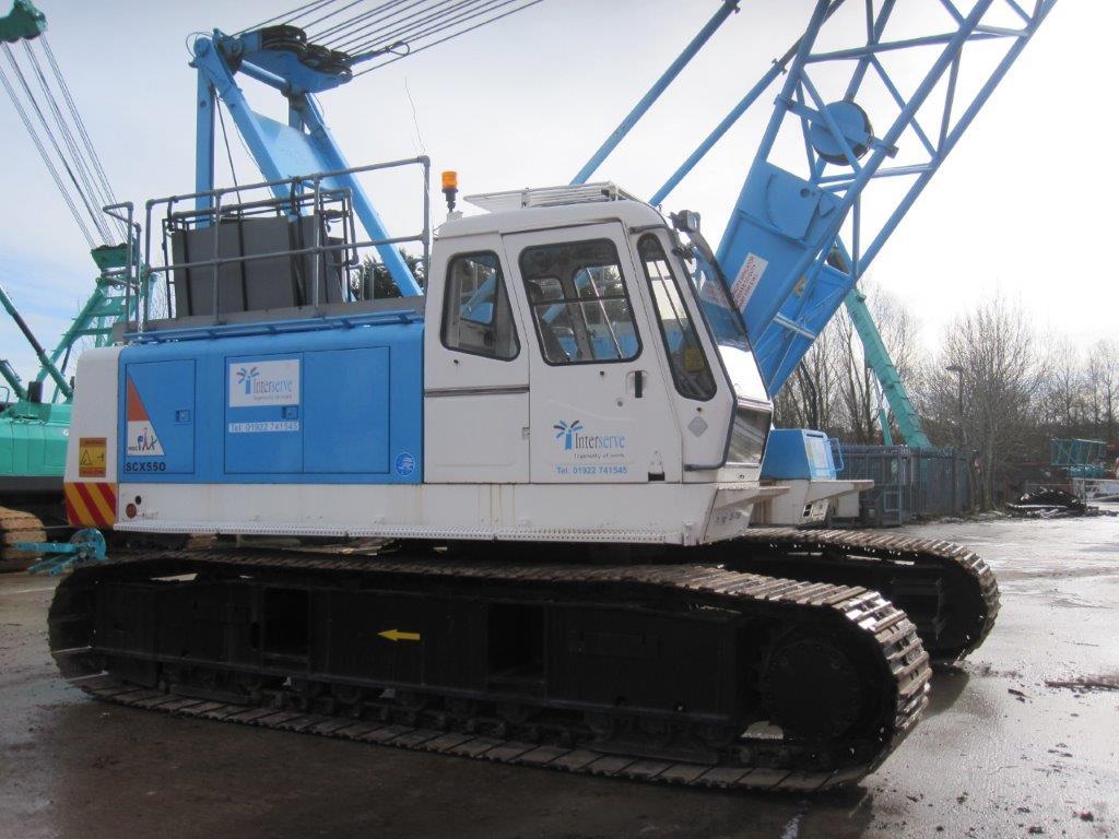 Used Hitachi SCX550 55 tons lattice boom crawler crane for sale
