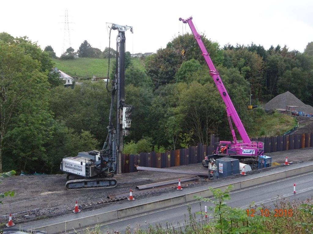Marchetti Sherpa 70 tons tele crawler crane on hire in Wales