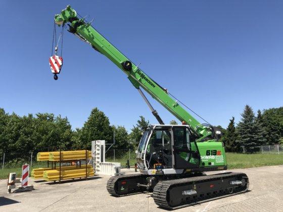 Sennebogen 613R telescopic crawler crane