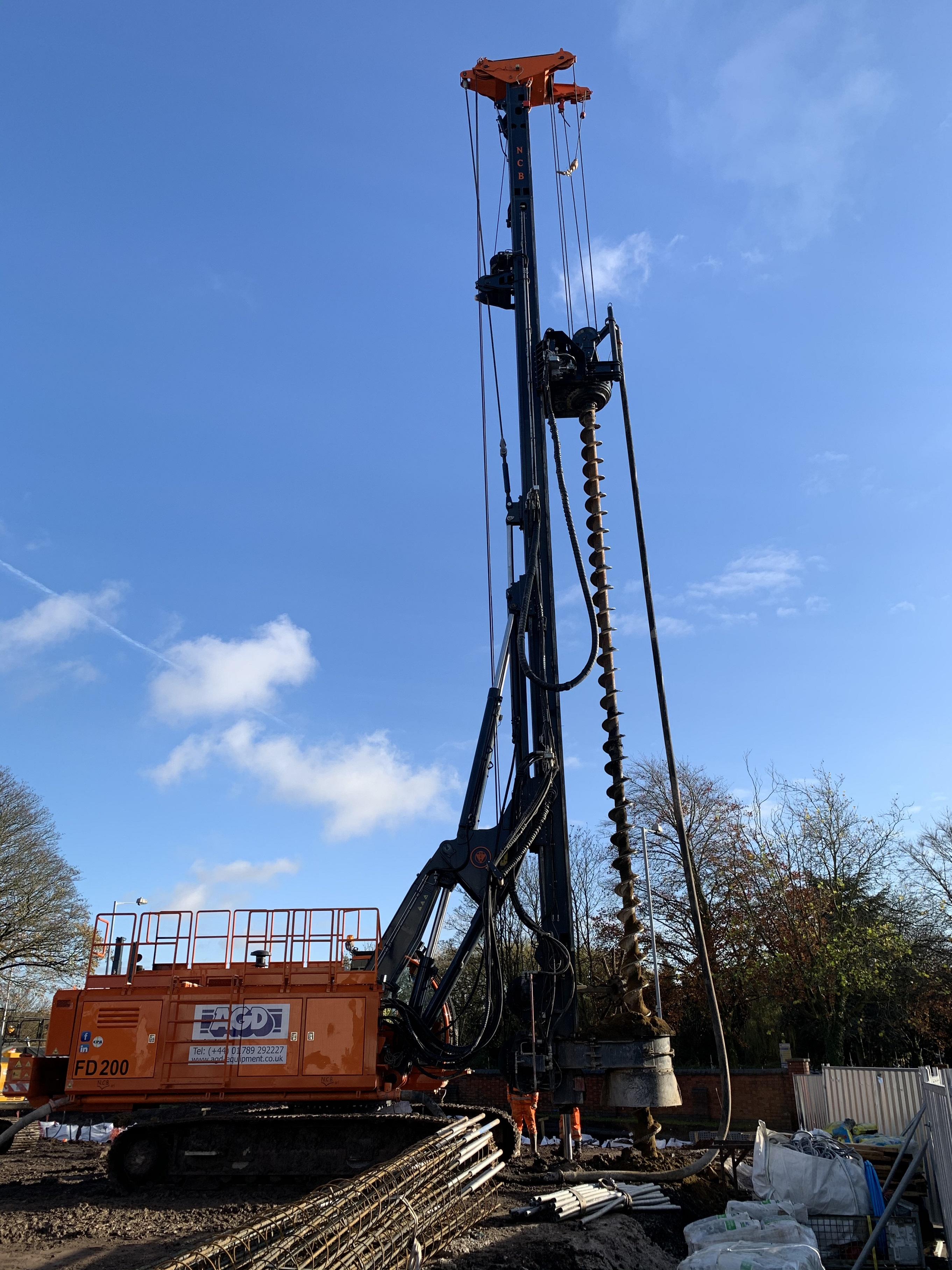 NCB FD200 CFA piling rig at Wolverhampton