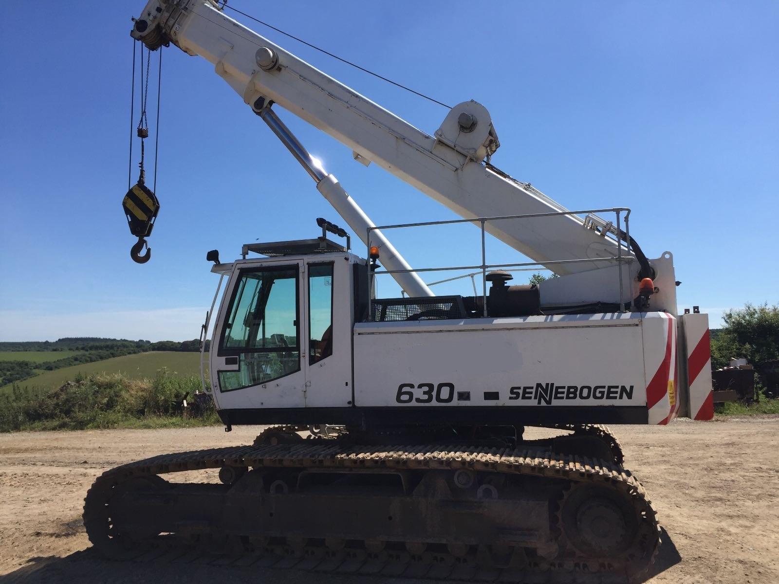 Used Sennebogen 630R 40 tons capacity telescopic crawler crane for sale