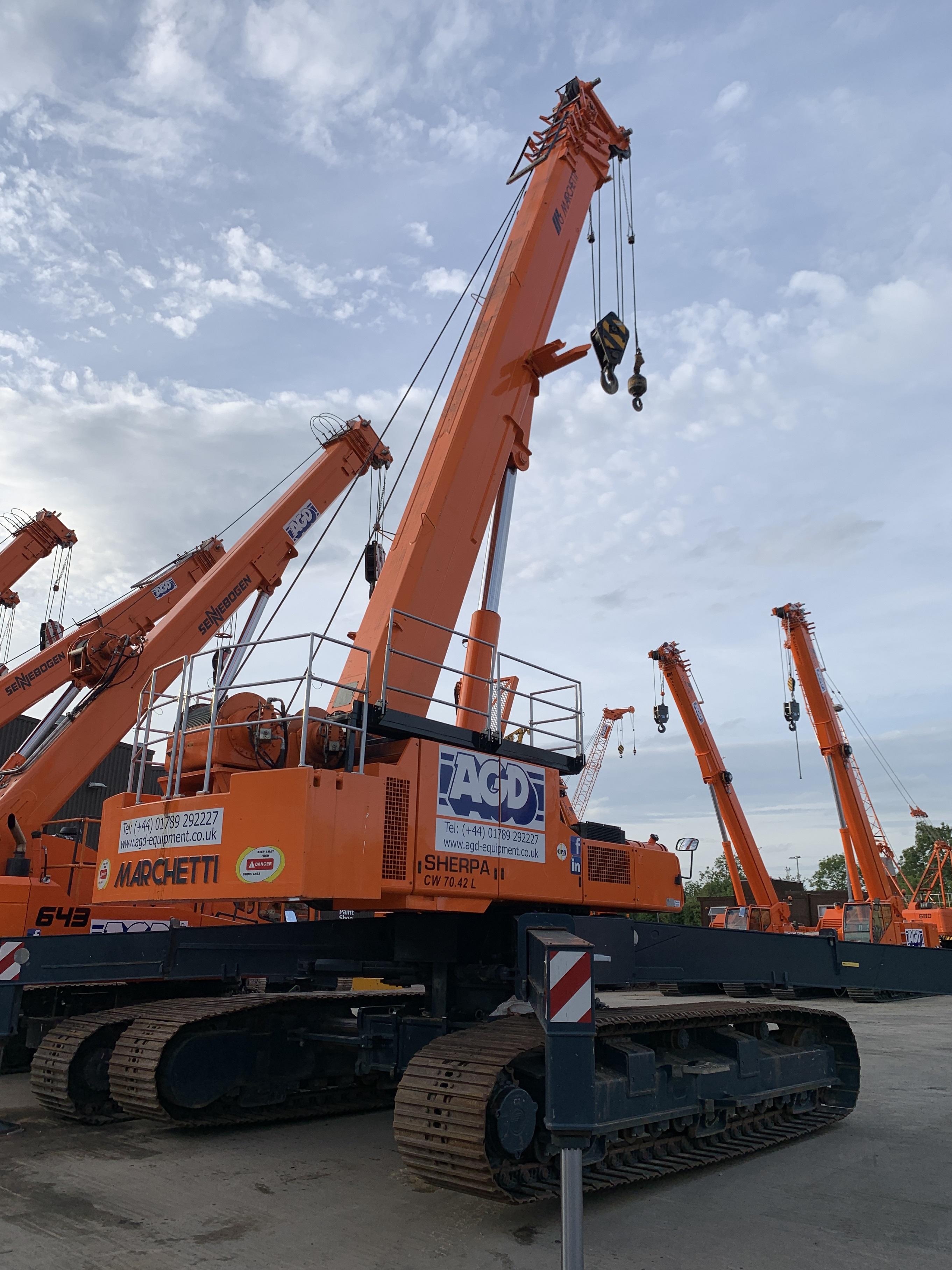 Used Marchetti Sherpa telescopic crawler crane for sale