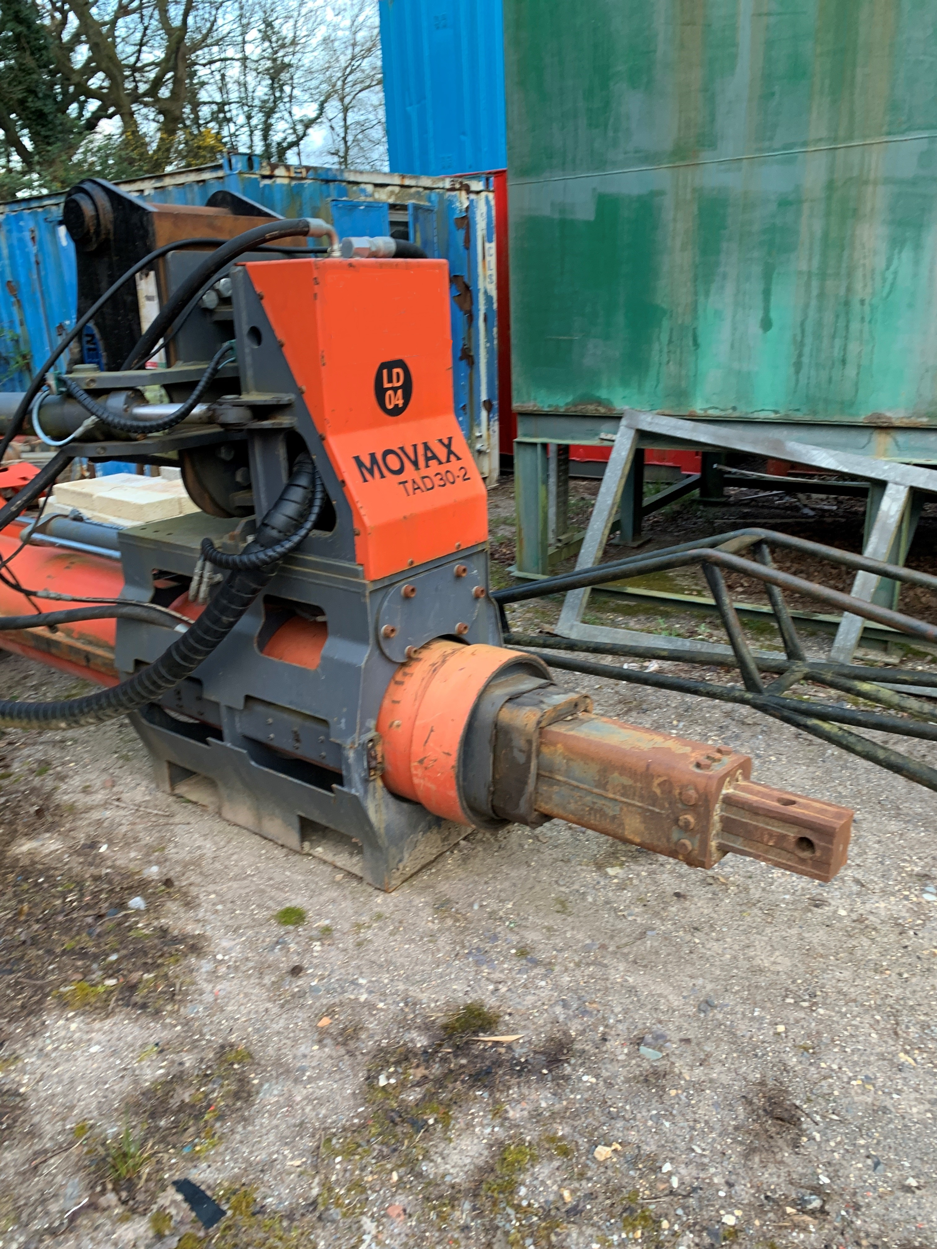 Used Movax TAD30-2 excavator mounted kelly drill
