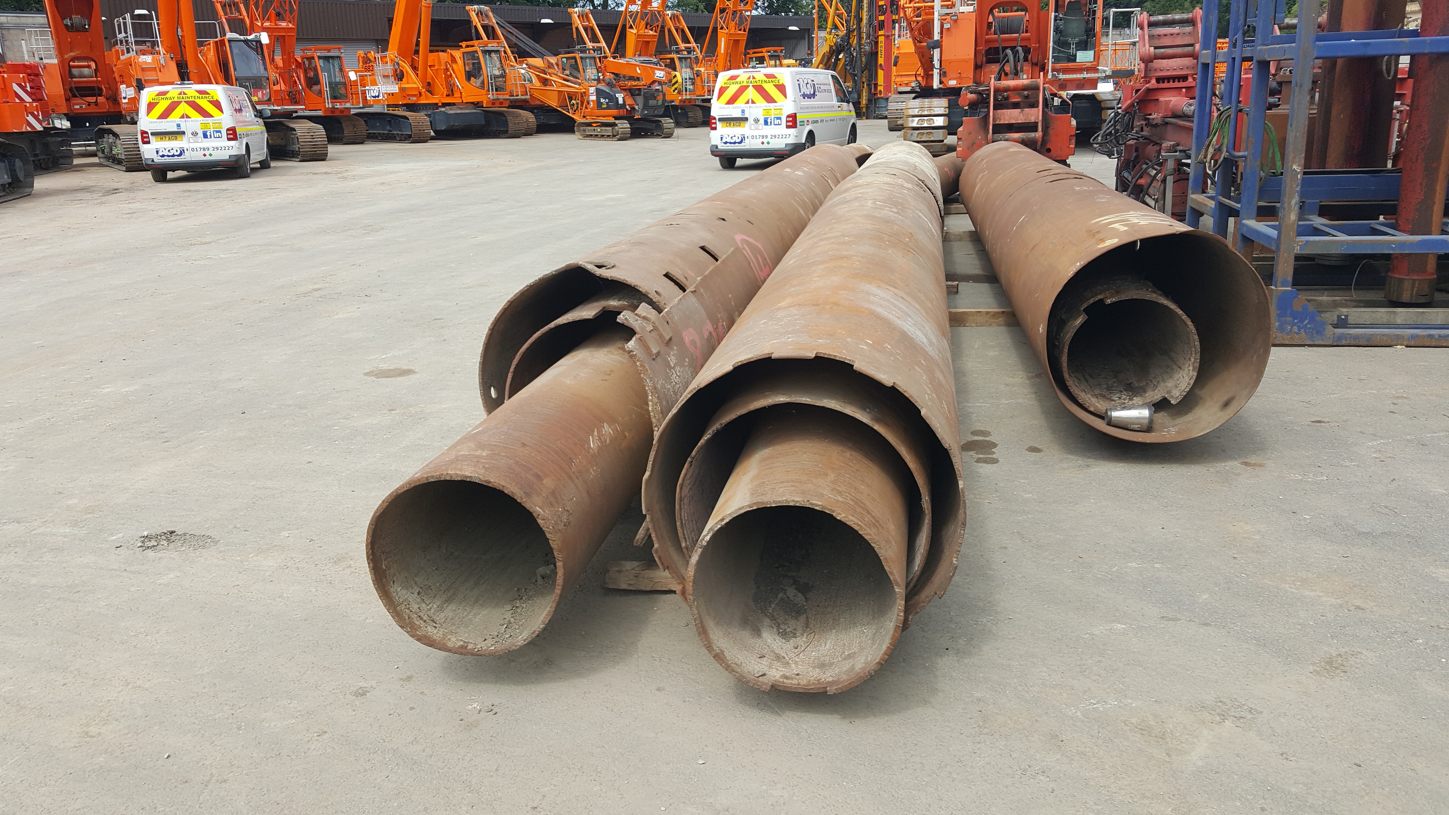 Used temporary casings for bored piling for sale