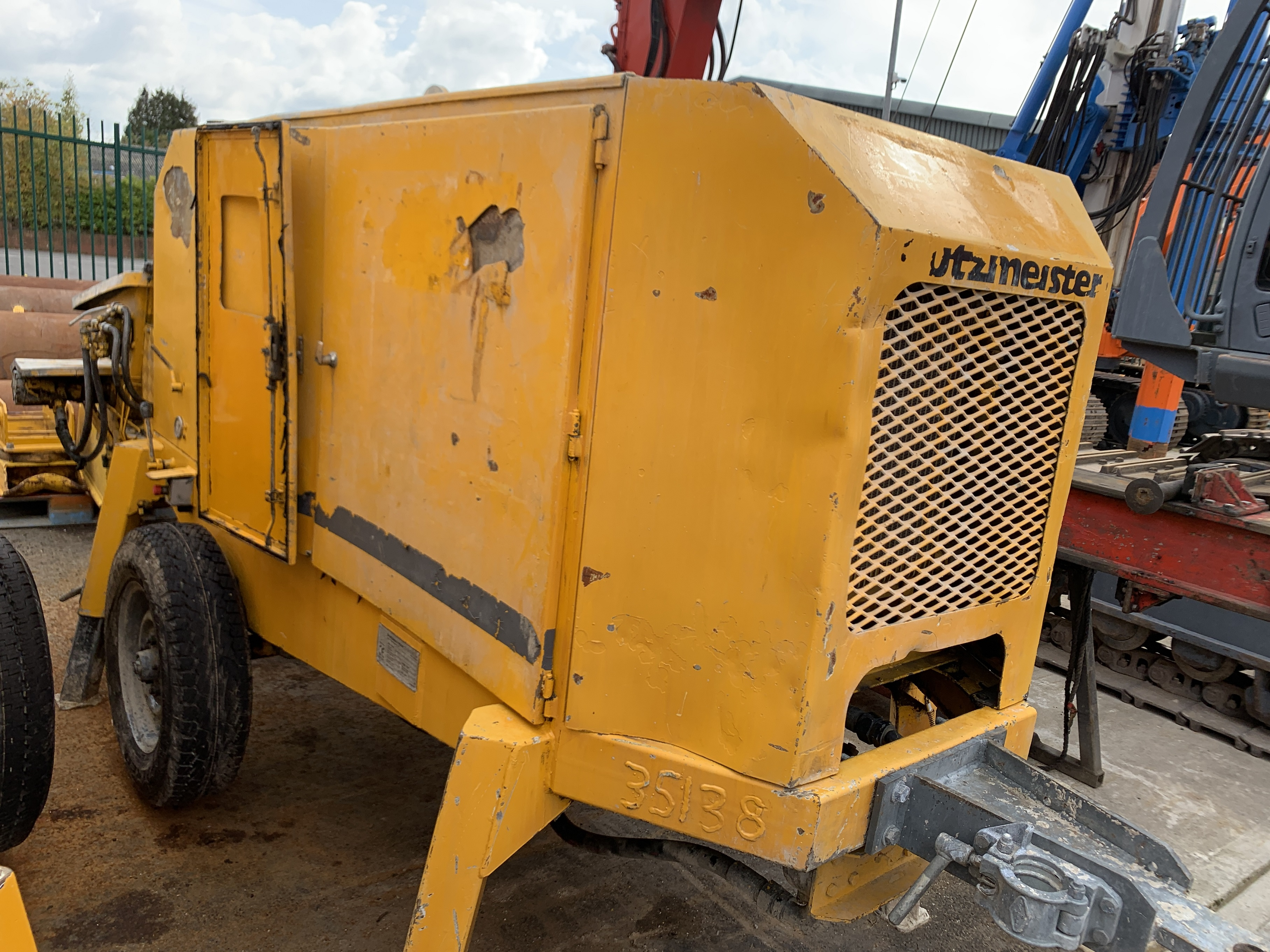 Used Putzmeister BSA1005 concrete pump for sale