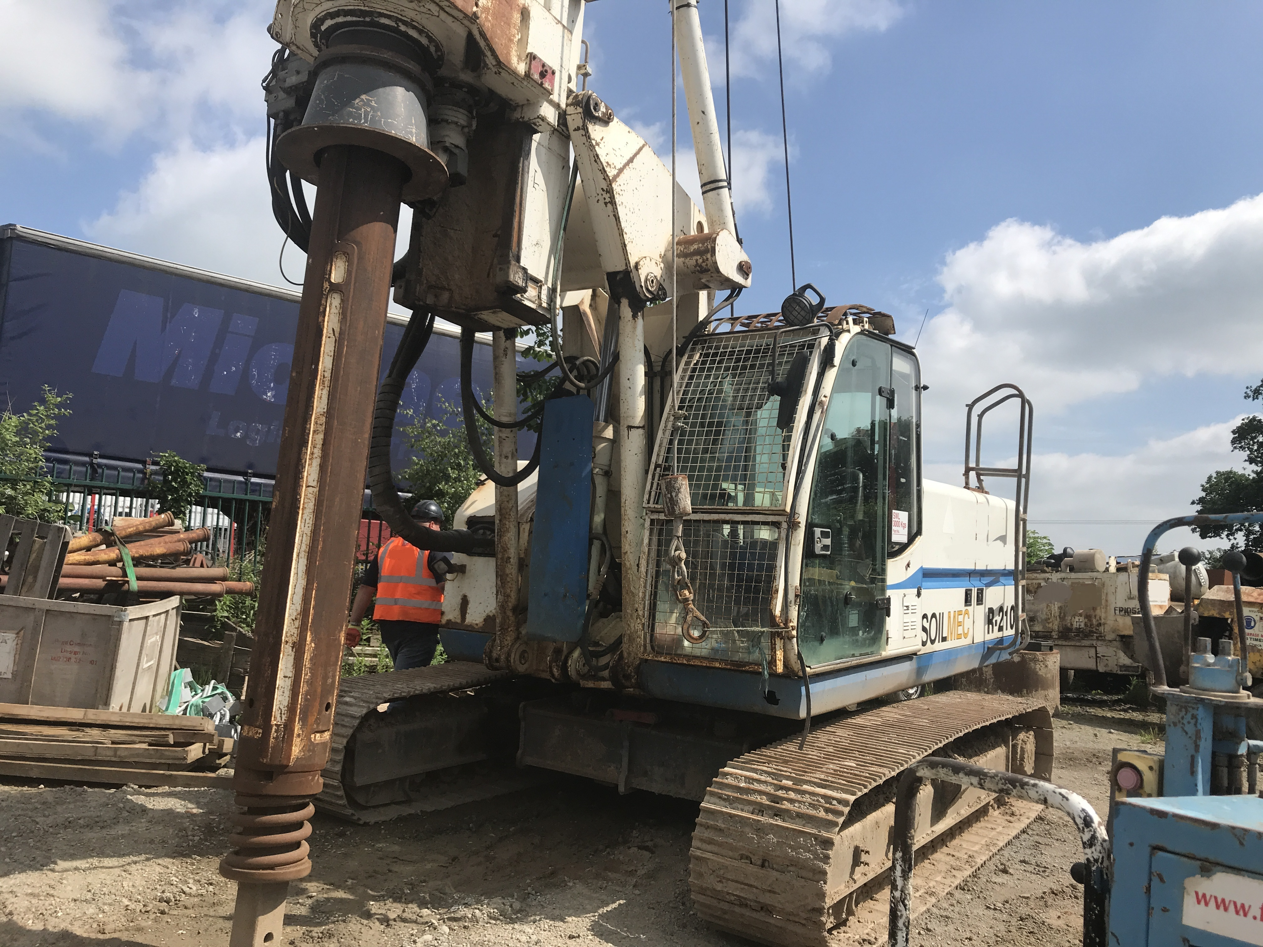 Used Soilmec R208 bored piling rig for sale