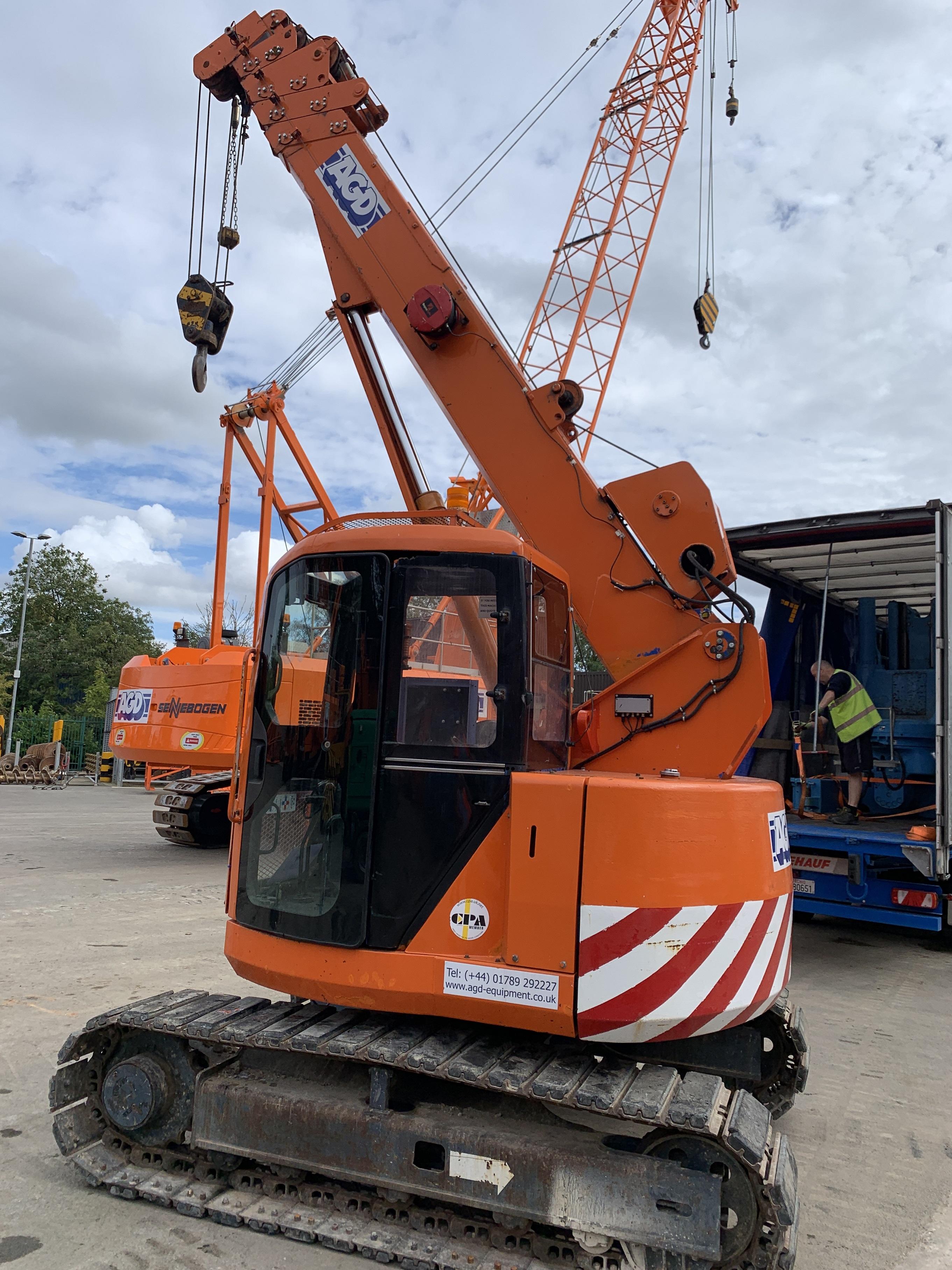 Used Maeda LC755 5 tons mini crane for sale