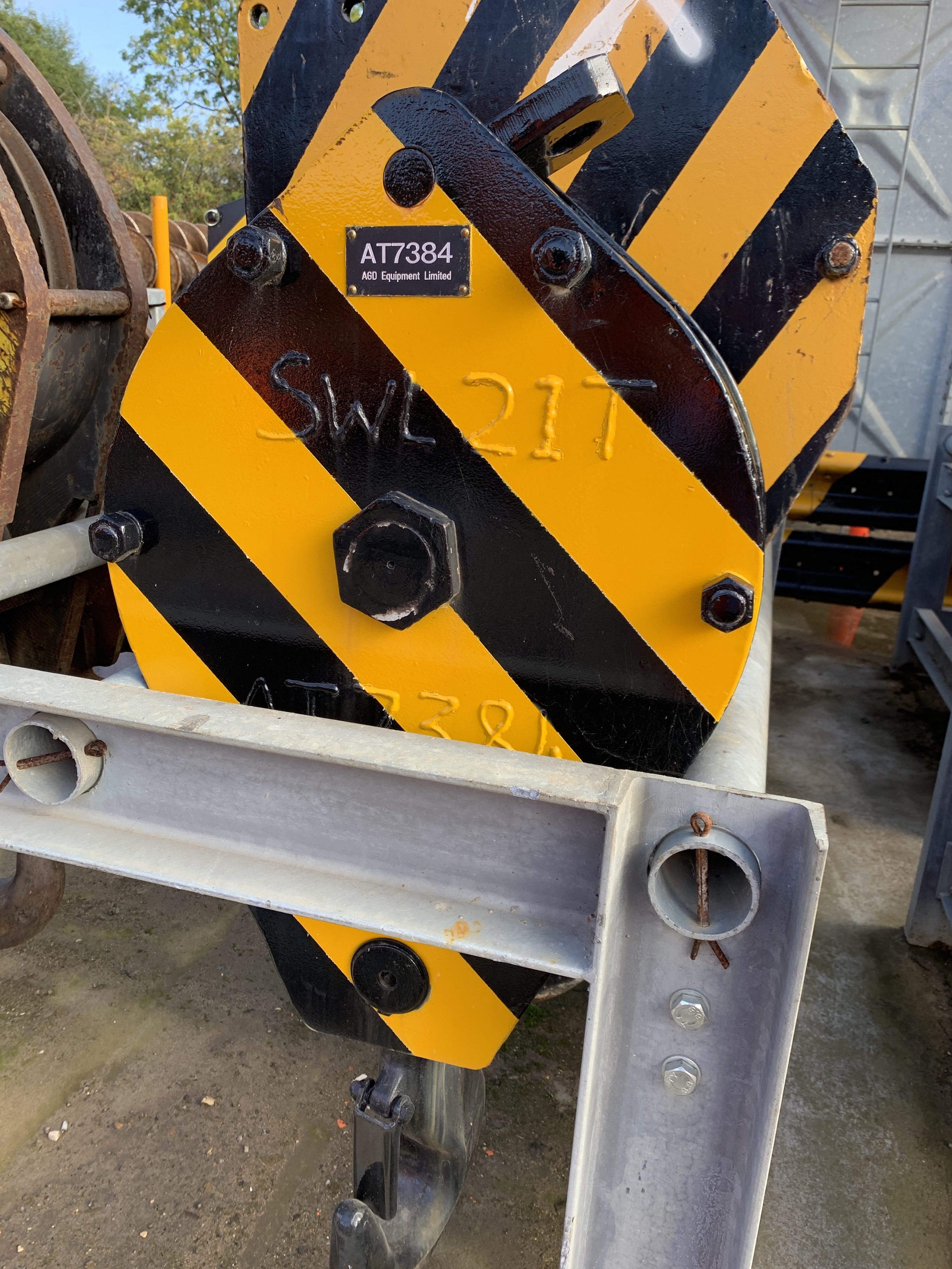 Used 21 tons single sheave hook block for sale