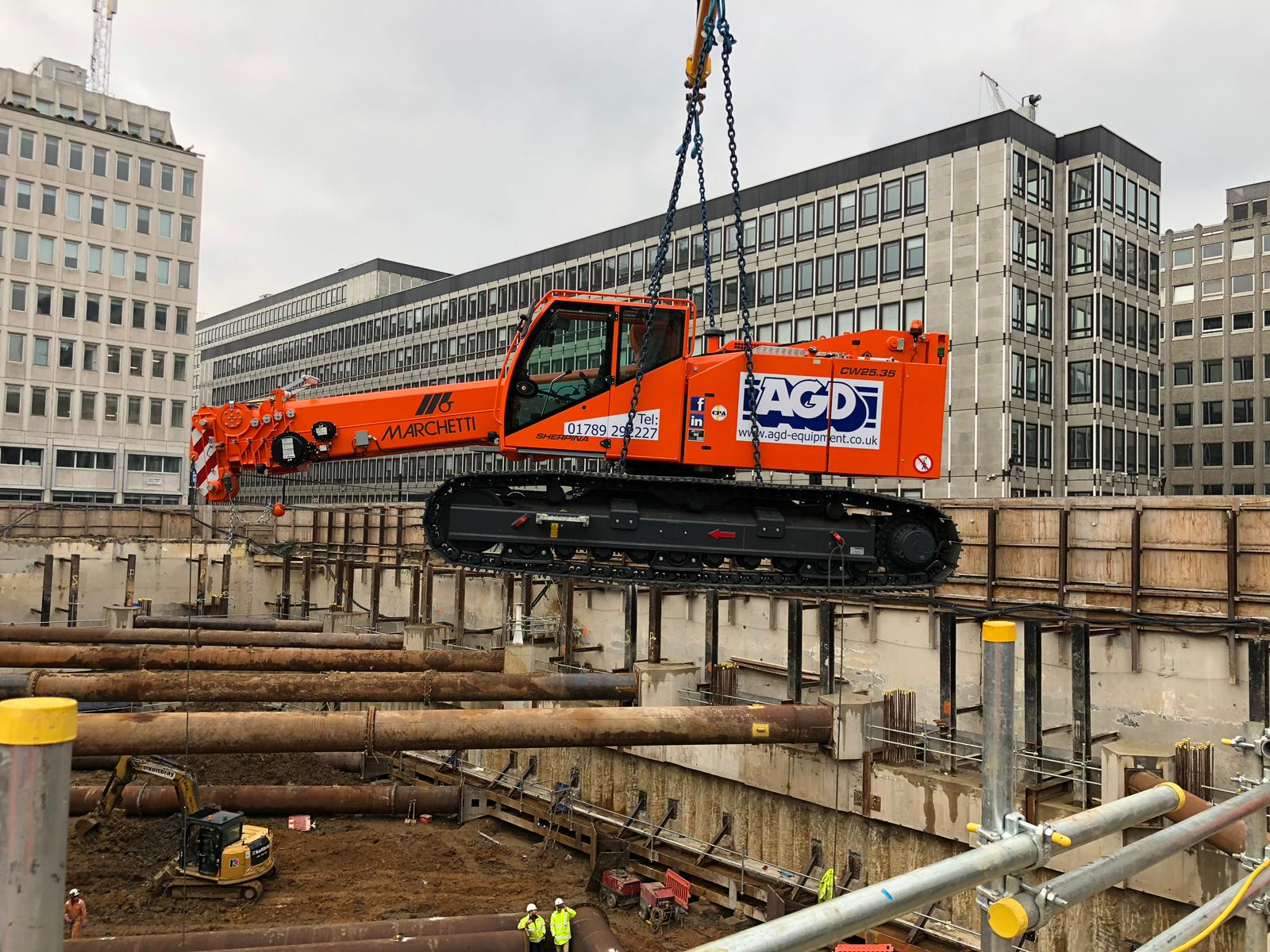 Marchetti Sherpina Telescopic Crawler Crane London