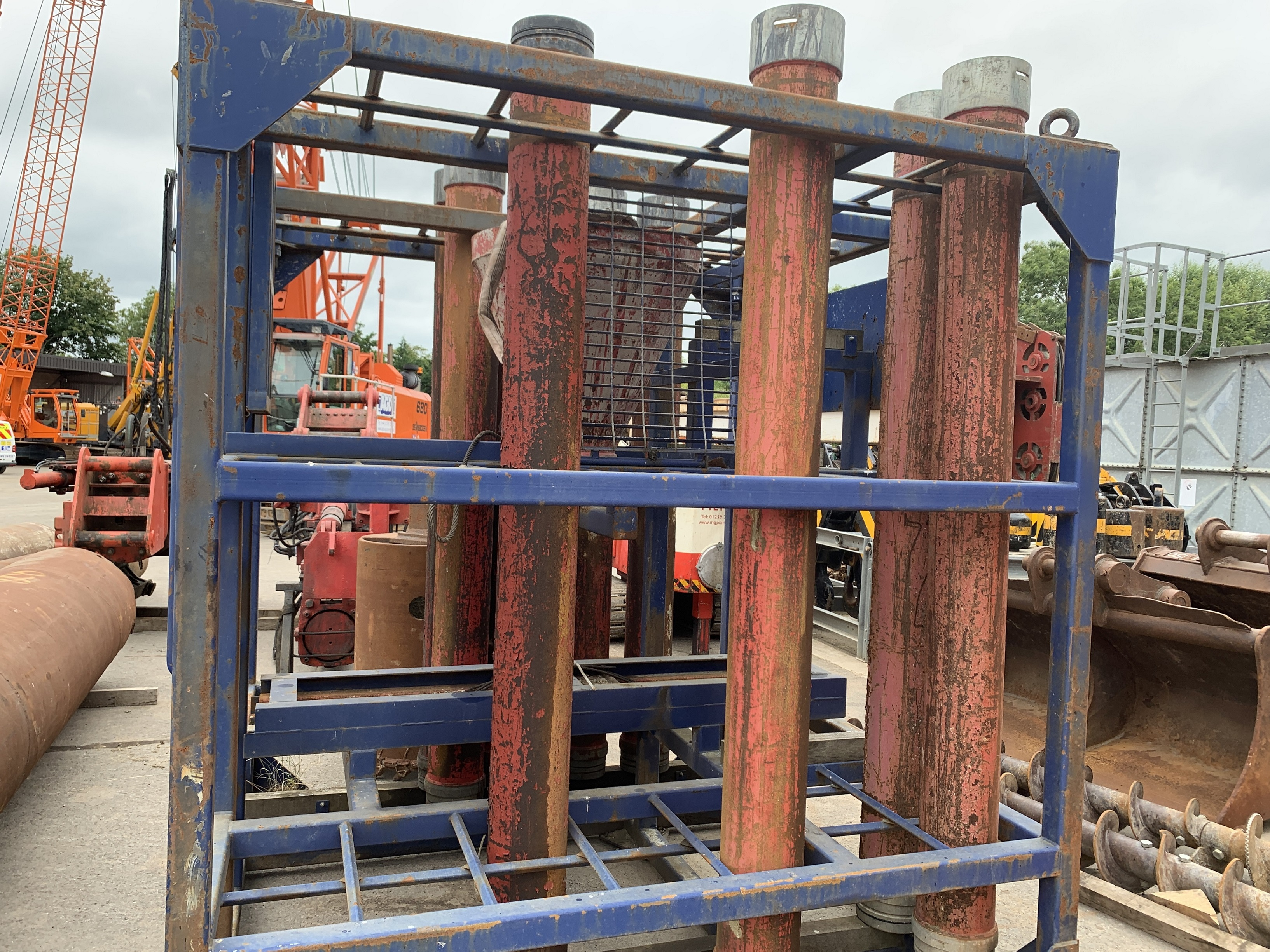 Used Tremie pipes for sale c/w rack