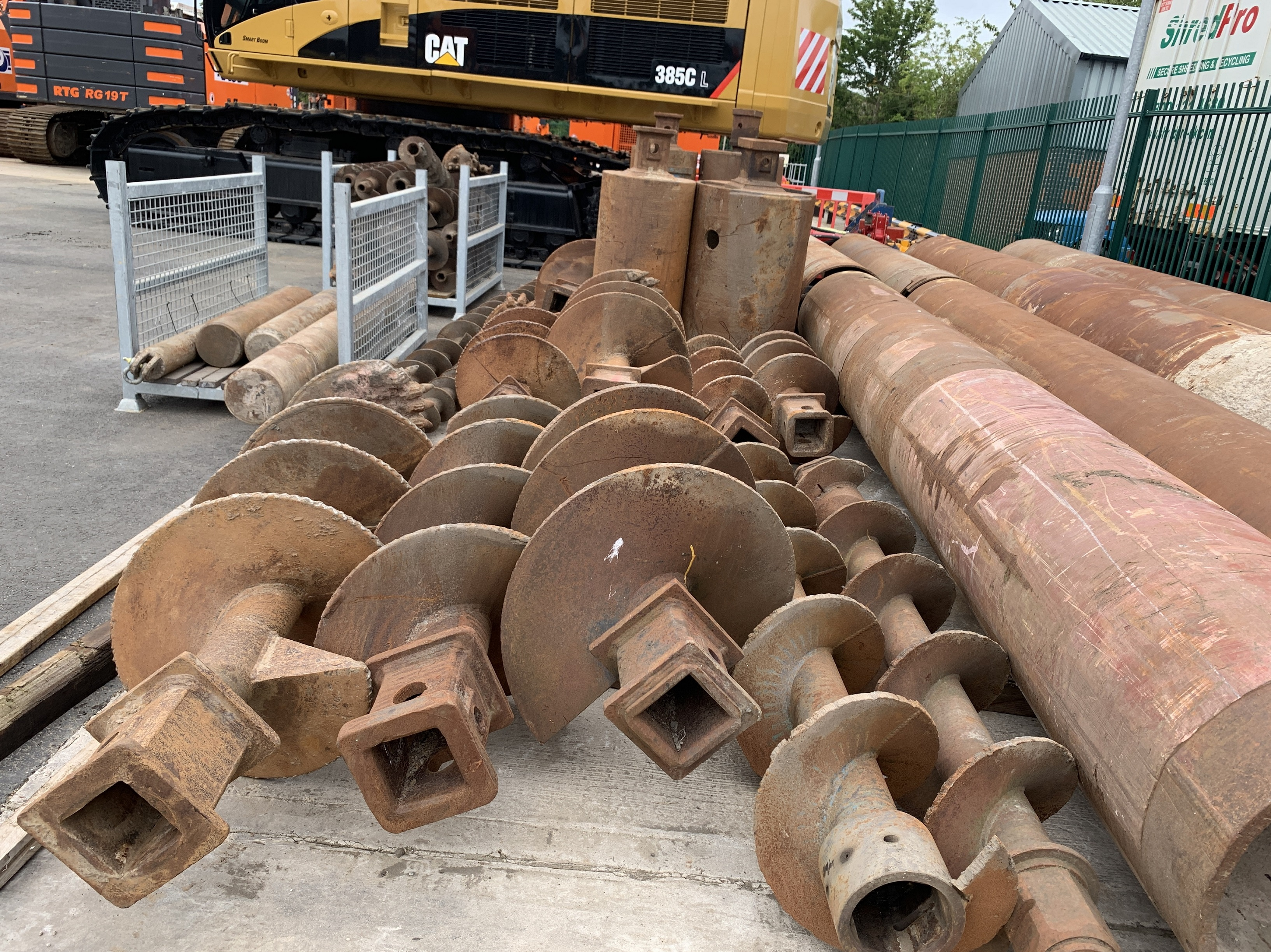 Used bored piling drilling tools for sale