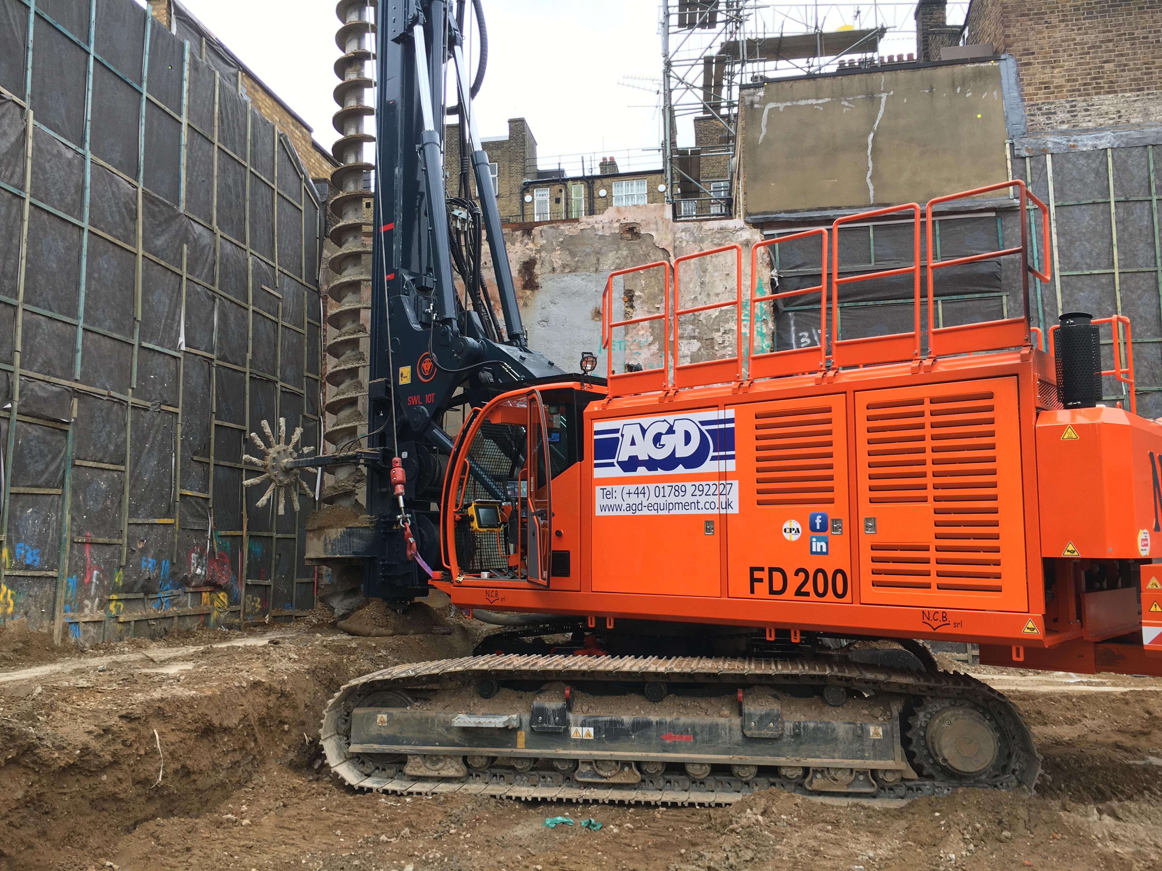 NCB FD200 CFA piling rig