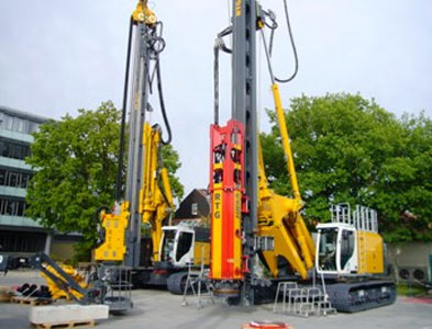 RTG RG21T telescopic leader rig with MB150 CFA rotary head